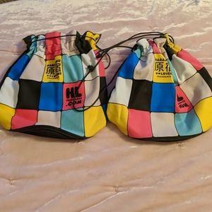 Harajuku Lovers drawstring pouches